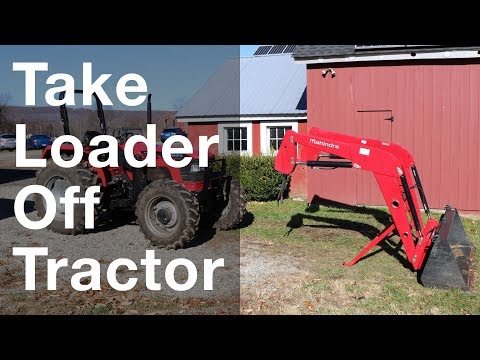 Taking Front Loader Off tractor In 4 Minutes