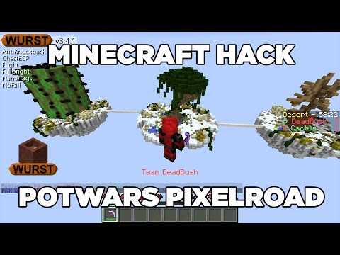 Minecraft Hack Fly! (Wurst Client) PotWars Pixelroad.net [ITA]