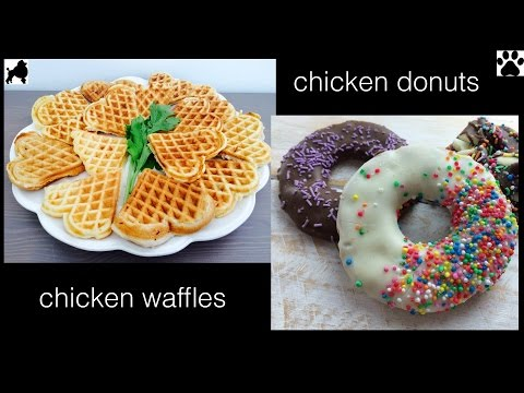 CHICKEN DONUTS WAFFLES DOG TREATS with Charliscraftykitchen - DIY Dog Food by Cooking For Dogs