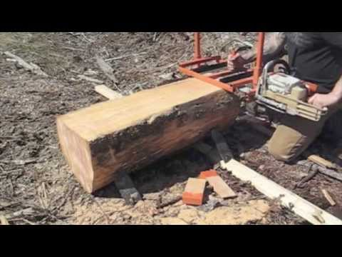 Milling some wood for sawhorses