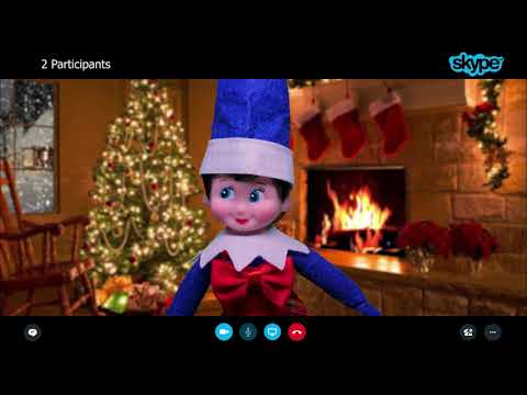 Elf on The Shelf Violet and Purple Skype Call