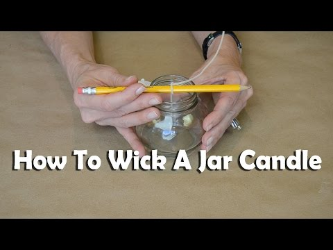 Candle Making 101: How To Wick A Jar Candle