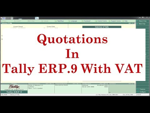 How to Create Quotation In Tally ERP9 with Advance Numbering Option