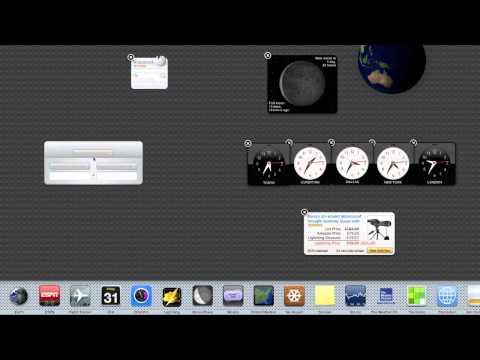 Mac 101 - Dashboard Widgets