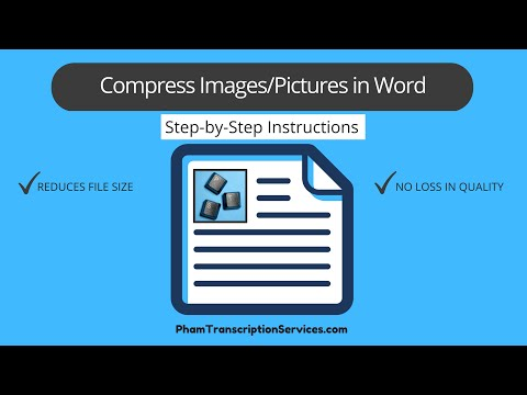 Compress Image/Picture in Word document to Reduce File Size