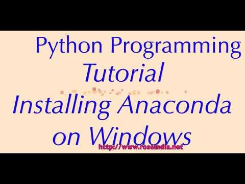 Installing Anaconda on Windows