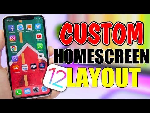 Get a CUSTOM HomeScreen Layout On iOS 12 - 12.1 (NO Jailbreak)