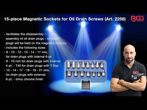 Tutorial: 15-piece Magnetic Sockets for Oil Drain Screws (Item# 2256)