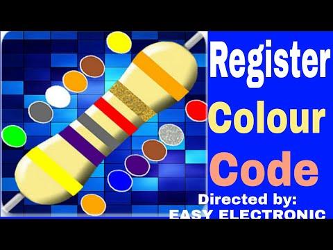 Register colour code