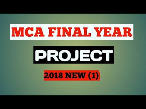 mca final year project #1 (2017 new)