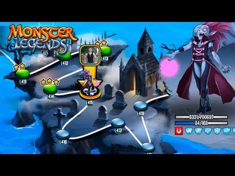 VAMP GIRL Босс вампир 415 остановка карта странствий Monster Legends