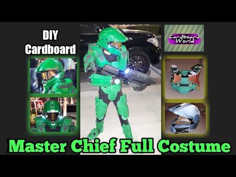 Diy Cardboard Halo Master Chief Full Costume