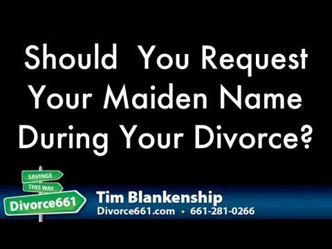 Should You Restore Your Maiden Name During California Divorce