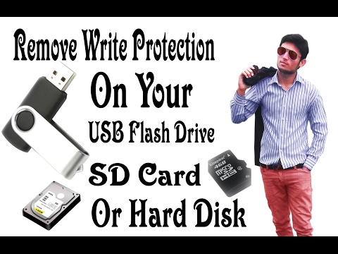 How to Remove Write Protection On USB Flash Drive  - Remove Write Protection using CMD [Hindi-Urdu]