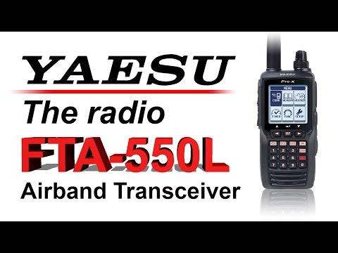 Yaesu FTA-750L NAV-COM Aviation Transceiver with GPS