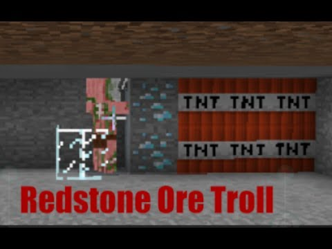 Redstone Ore Troll (Minecraft PE Redstone)