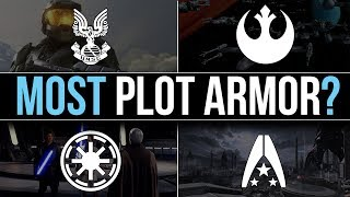 Which Sci-Fi Faction has the MOST PLOT ARMOR? | Halo, Mass Effect & Star Wars Lore