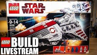 LEGO Venator Republic Attack Cruiser Build Livestream Ep 27 8039