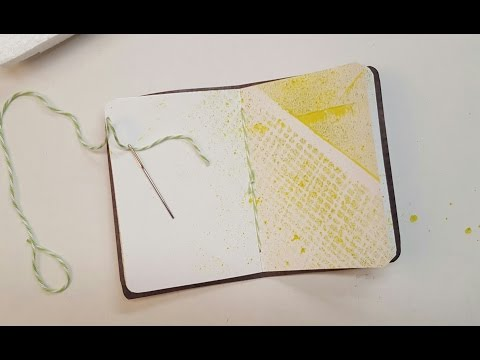 Pamphlet Stitching a Notebook Spine -- Tutorial