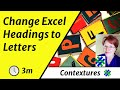 How to Change Excel Column Headings from Numbers to Letters