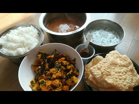 Simple South Indian Veg lunch recipe | South Indian veg lunch | vegetarian lunch recipes