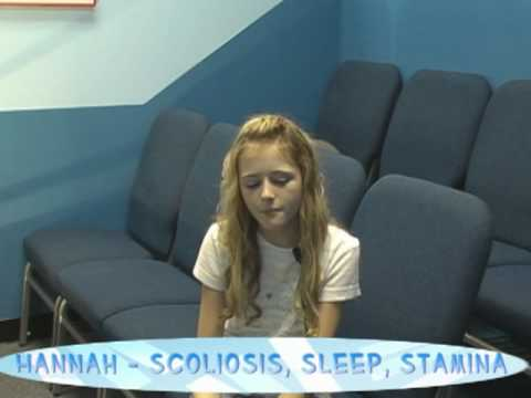 Hannah  -  Scoliosis correction, Improved Sleep, Better Stamina