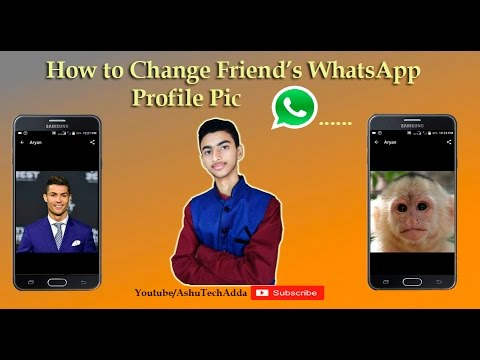 {Hindi} How To Change Friend's WhatsApp Profile Pic | Easy & Simple
