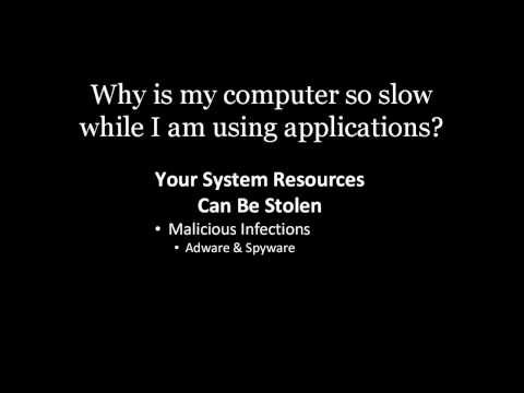 Why is my computer so slow while I am using applications?