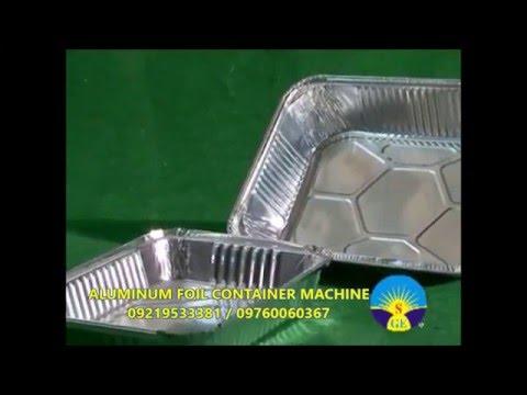 Aluminum Foil Container Machine 09219533381, 09760060367
