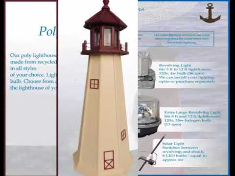 Custom poly mailboxes and poly lighthouses