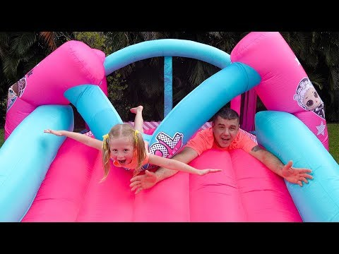 Xxx Mp4 Stacy And Dad Fun Playing With Inflatable Water Slide 3gp Sex