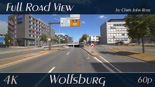 Wolfsburg, Germany: Hageberg, Wohltberg, Hohenstein, Stadtmitte - A39, Heinrich-Nordhoff-Straße - 4K