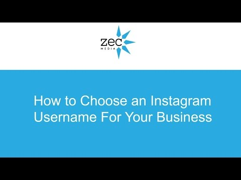 How to choose your Instagram Handle/ Username For Your Business