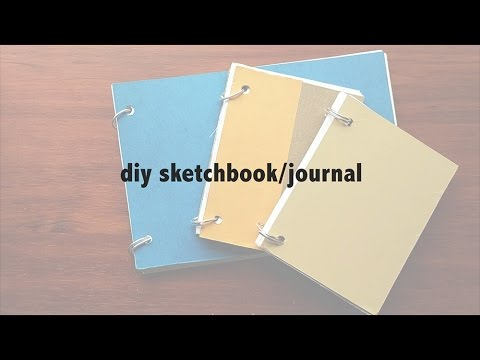 DIY sketchbook/journal (NO BINDING/STITCHING!)