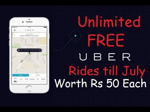 Unlimited Free Uber Cab Rides Worth Rs 50 Each