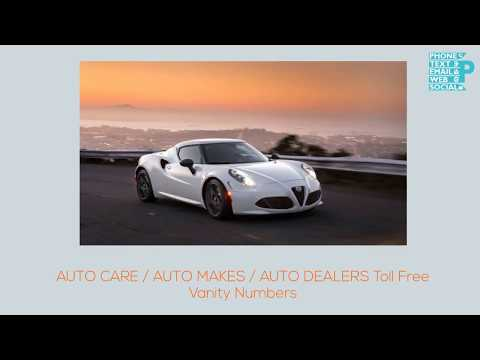 Buy Local Toll Free Vanity Numbers in Auto Care / Auto Makes / Auto Dealers