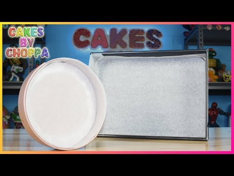 Baking Hack - How To Line A Cake Tin Perfectly Every Time!  - CakesByChoppA Easy Tip