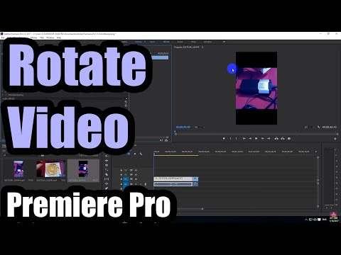 How to Rotate a video in Premiere Pro 2017 (Portrait to Landscape)