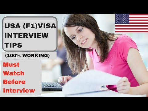 (100% Worked)   USA (F1) Visa Interview Tips   Study Abroad