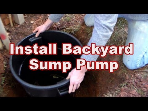 How To Replace or Install Your Backyard Sump Pump