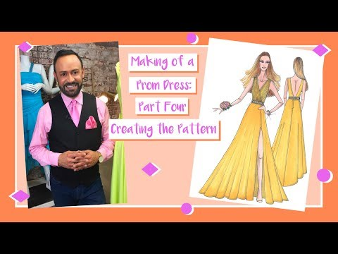 Making of a Prom Dress: Part 4--Creating The Pattern