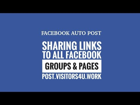 Sharing a Link to all Facebook Groups & Pages