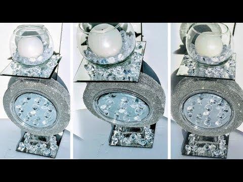 DIY Dollar Tree GLAM Round Mirror Candle Holder