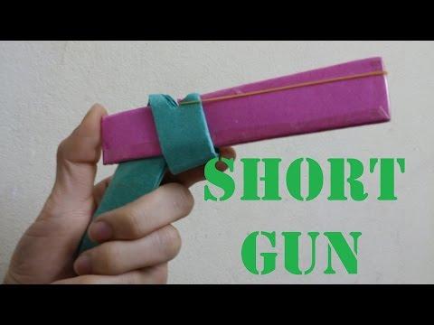 How to make a Paper Short Gun that Short Rubber Bands (crazyPT's design)