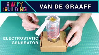 How to make an Electrostatic Generator!?! Happy Building!