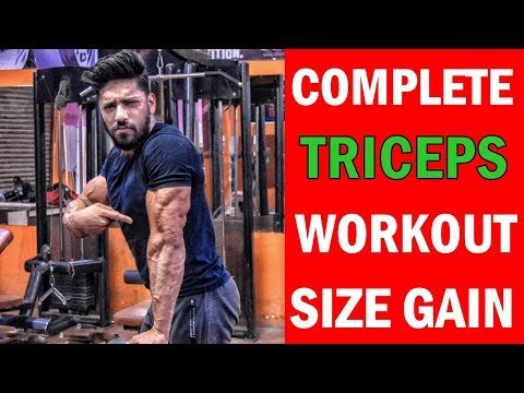 How to get Bigger Triceps | triceps workout at gym for beginners | Complete Tricep Exercise