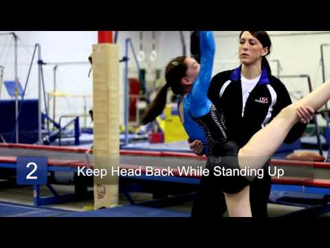 How to Do a Front Walkover : Gymnastics