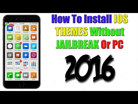 How To Install THEMES ON IOS WITHOUT JAILBREAK OR PC