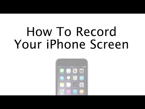 How To Record Your iPhone Screen - No Jailbreak