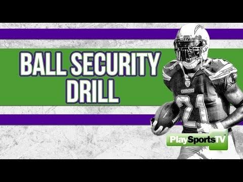 Football-Running Back:  Ball Security Drill